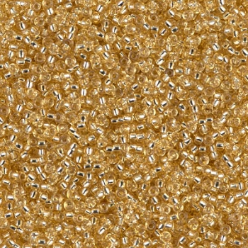 Miyuki Rocailles 15/0 Farbe:003 - Silver Lined Gold 10g
