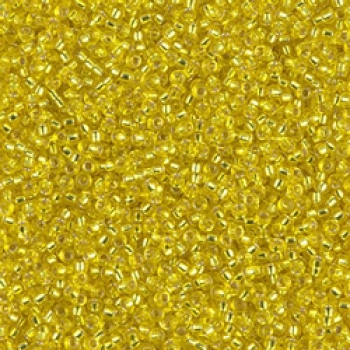 Miyuki Rocailles 15/0 Farbe:006 - Silver Lined Yellow 10g