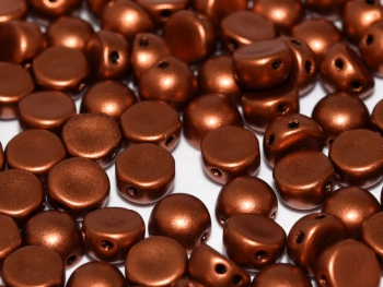 2-Hole-Cabochons 6mm Copper - 20 Stück