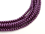 Glasperlen 3 mm Shiny Purple - 150 Stück